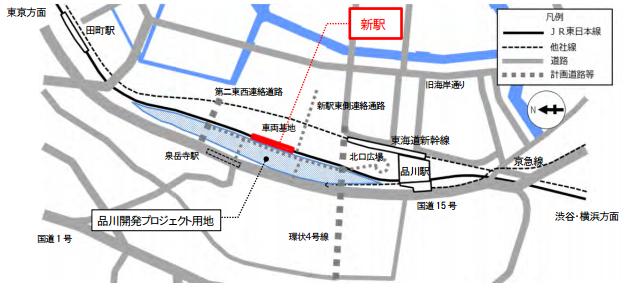 図 高輪 構内 ゲートウェイ 駅